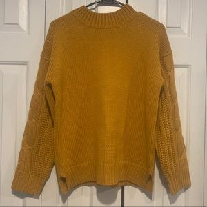 Roolee yellow button back sweater